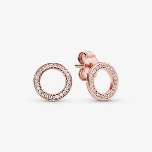 Pandora Sparkling Circle Stud Earrings
